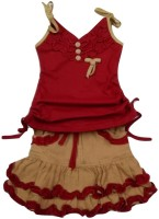 Kid n Kids Girls Party(Festive) Top Skirt(Maroon)