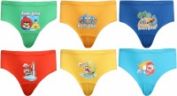 Red Rose Brief For Boys(Multicolor Pack of 6)