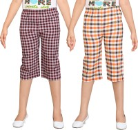 Sini Mini Capri For Girls Checkered(Multicolor)