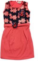 Kids Care Girls Midi/Knee Length Party Dress(Pink, Sleeveless)