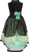 Addyvero Girls Maxi/Full Length Party Dress(Green, Sleeveless)