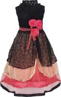 Addyvero Girls Maxi/Full Length Party Dress(Multicolor, Sleeveless)