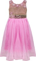 Addyvero 88 Party Dress(Pink, Sleeveless)