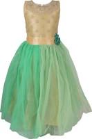 Addyvero 88 Party Dress(Green, Sleeveless)