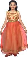 SSMITN Girls Maxi/Full Length Party Dress(Red, Sleeveless)