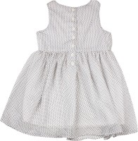 Allen Solly Junior Girls Midi/Knee Length Casual Dress(White, Sleeveless)