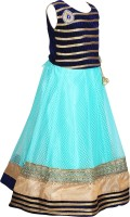 Crazeis Girls Maxi/Full Length Party Dress(Green, Sleeveless)