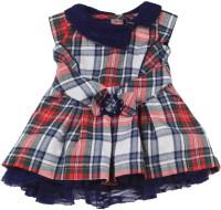 FS MINI KLUB Girls Midi/Knee Length Casual Dress(Red, Cap Sleeve)