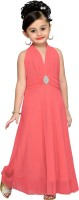 Aarika Maxi/Full Length Party Dress(Pink, Sleeveless)