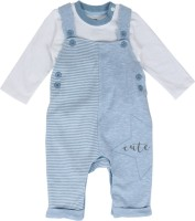 FS MINI KLUB Dungaree For Boys Solid Cotton(Blue, Pack of 1)