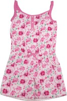 Elle Kids For Girls Casual Printed Cotton(Pink)