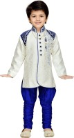 AJ Dezines Boys Sherwani and Churidar Set(Blue Pack of 1)