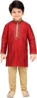 Shree Shubh Boys Kurta and Pyjama Set(Red Pack of 1)