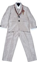 Hey Baby Boys Blazer, Shirt and Trouser Set(Grey Pack of 4)