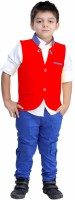 Bad Boys Boys Shirt, Waistcoat and Pant Set(Red Pack of 3)