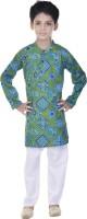 Soundarya Boys Kurta and Pyjama Set(Blue Pack of 1)