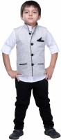 Bad Boys Boys Shirt, Waistcoat and Pant Set(Black Pack of 3)