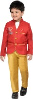 AJ Dezines Boys Blazer and Pant Set(Red Pack of 1)