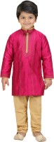 Shree Shubh Boys Kurta and Pyjama Set(Pink Pack of 1)
