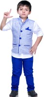 Bad Boys Boys Shirt, Waistcoat and Pant Set(Blue Pack of 3)