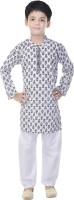 Soundarya Boys Kurta and Pyjama Set(White Pack of 1)