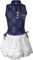 Addyvero Girls Top and Skirt Set(Dark Blue Pack of 2)