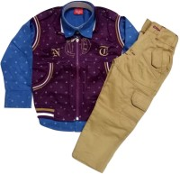 Kid n Kids Boys Shirt, Waistcoat and Pant Set(Blue Pack of 1)
