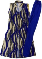 Kid n Kids Girls Kurti and Legging Set(Blue Pack of 1)