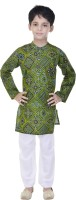 Soundarya Boys Kurta and Pyjama Set(Green Pack of 1)