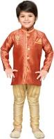 AJ Dezines Boys Sherwani and Churidar Set(Red Pack of 1)
