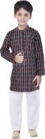 Soundarya Boys Kurta and Pyjama Set(Black Pack of 1)