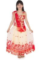 Addyvero Girls Lehenga Choli Ethnic Wear Embroidered, Self Design Lehenga, Choli and Dupatta Set(Red, Pack of 1)