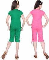 Sini Mini Kids Nightwear Girls Printed, Solid Cotton
