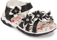 N Five Girls Buckle Strappy Sandals(Black)