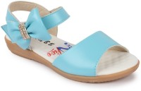 N Five Girls Buckle Strappy Sandals(Blue)