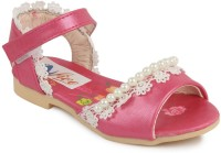 N Five Girls Buckle Strappy Sandals(Pink)