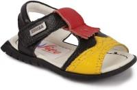 N Five Boys & Girls Buckle Strappy Sandals(Black)