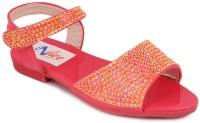 N Five Girls Buckle Flats(Orange)