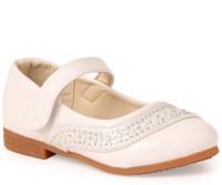 N Five Girls Buckle Flats(White)