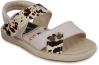 N Five Boys & Girls Buckle Strappy Sandals(White)