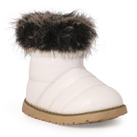 N Five Girls Slip on Casual Boots(White)