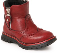 N Five Boys Strap Casual Boots(Red)
