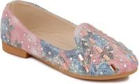 N Five Girls Slip on Dancing Shoes(Pink)