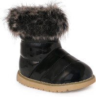 N Five Girls Slip on Casual Boots(Black)