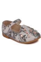 N Five Girls Velcro Dancing Shoes(White)