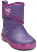 Crocs Girls Slip on Casual Boots(Purple)