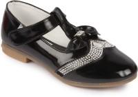 N Five Girls Velcro Dancing Shoes(Black)
