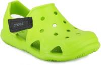 Crocs Girls Slip on Sneakers(Green)