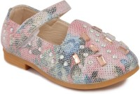 N Five Girls Velcro Dancing Shoes(Pink)