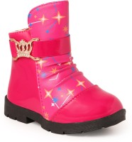 N Five Girls Slip on Casual Boots(Pink)